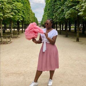Gap, blush pleated midi skirt 💕